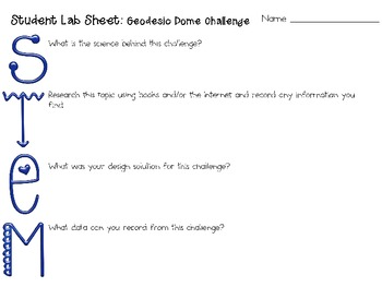 Geodesic Dome: Engineering Challenge Project ~ Great STEM Activity!