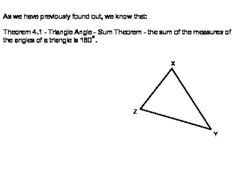 Geoemtry SS 4.2 - Angles of Triangles