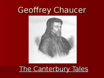 Geoffrey Chaucer - Short Introduction Power Point