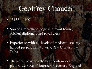 Geoffrey Chaucer and the Canterbury Tales: A Brief Introduction