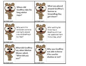 Geoffrey Groundhog Companion Packet