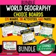 Geog. United States & Canada Choice Board Activity Pages-P