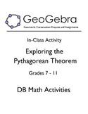 Geogebra Activity - Exploring the Pythagorean Theorem
