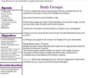 Geogebra Photo Functions Notebook