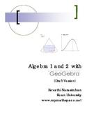 Geogebra guide for Algebra 1 and 2
