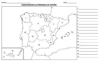 Geografia teaching resources teachers pay teachers geografa espaa prueba mapa ccuart Images