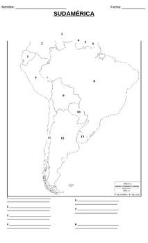 Geografía - Sudamérica (Prueba / mapa)