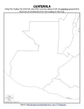 La geografía de Guatemala - Novice level reading in Spanish