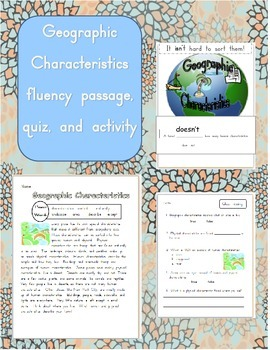 Geographic Characteristics Fluency Passage and Contractions with not activity