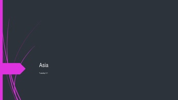 Geographic Factors of Asia