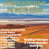 Physical Features of the US- Reading Passages for Geographic Landforms Bundle