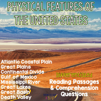 Geographic Features BUNDLE{Differentiated Close Reading Pa
