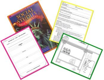 Geographic Features LESSON PLAN, graphic organizer, mapskills worksheet