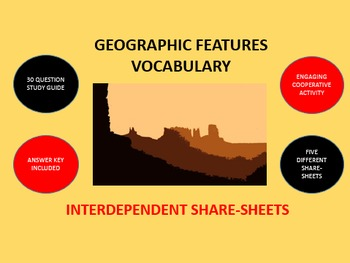 Geographic Features Vocabulary: Interdependent Share-Sheets Activity