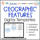 Geographic Features (World Geography) Digital Templates (SOL 3.6)