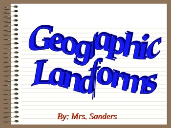 Geographic Landform Dictionary