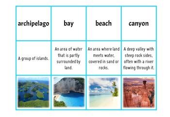 Geographic Landforms - Matching Activity