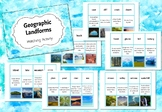 Geographic Landforms - Matching Activity