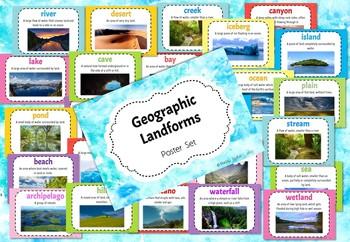 Geographic Landforms - Poster Set