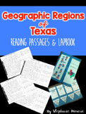 Geographic Regions of Texas Reading passages and Lapbook