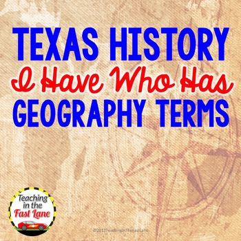 Geographic Terms I Have Who Has Class Activity