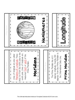 Geographic Terms Interactive Notebook Pages