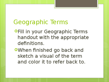 Geographic Terms PowerPoint