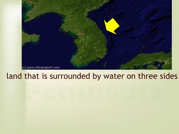 Geographic Terms Smart Board Review