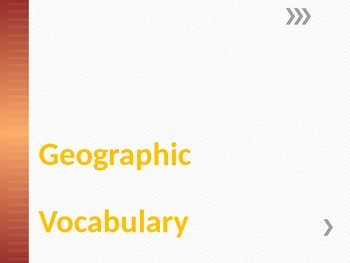 Geographic Vocabulary