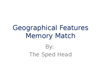 Geographical Features Memory Match