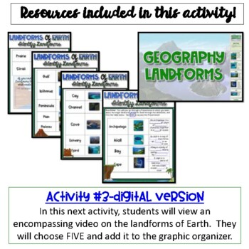 Geographical Landforms {Google Drive}