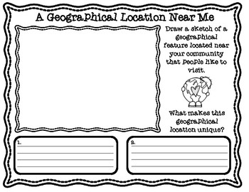 Geographical Locations Near Me Graphic Organizers