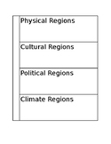 Geographical Regions Interactive Notebook