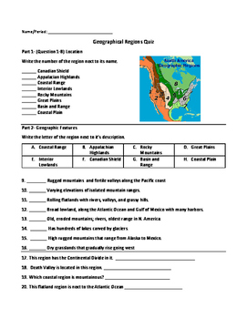 Geographical Regions Quiz