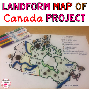 Map Of Canada For Students.Geographical Regions Of Canada Landform Map Project