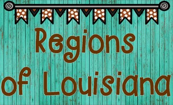 Geographical Regions of Louisiana Legal-Sized Map Activity