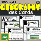 Geographical Understanding Unit Task Cards SS5G1 SS5G2 5th grade Geography
