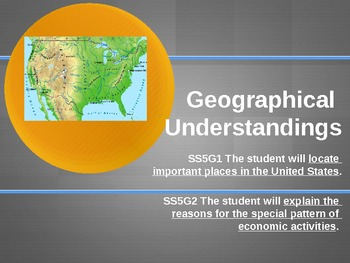 Geographical Understandings for 5th Graders