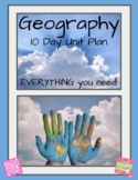 Geography 10 Day Unit Plan (Map Study, Physical Features,