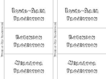 Basics of Geography Foldable Pack: Latitude & Longitude, Landforms, Maps,