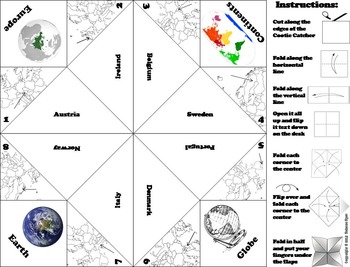 European Geography (k-12) Activity: Western Europe (Map Skills Game)
