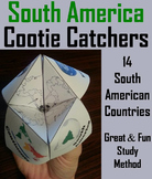 South America Activity (World Geography Unit: Map Skills Game)