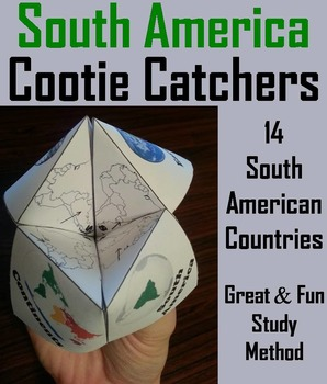 South America Geography (k-12) Activity (Map Skills Unit)