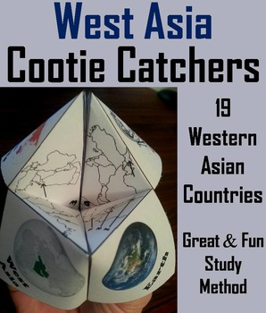 Geography (k-12) West Asia Map Skills Activity (Scoot Unit