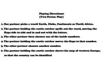 North Africa Activity (World Geography Unit: Map Skills Game)