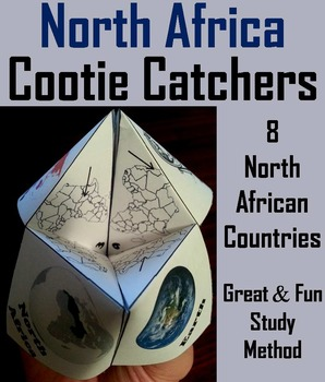 Geography (k-12) North Africa Map Skills Activity  (Scoot