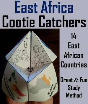 Geography (k-12) East Africa Map Skills Activity  (Scoot U
