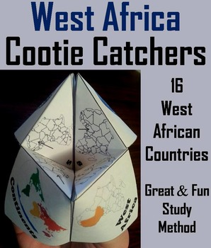 West Africa Geography (k-12) Activity (Map Skills Unit)