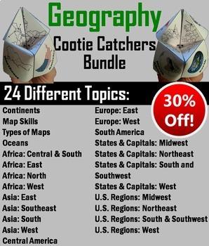 Geography (k-12) Activities/ Games Bundle (Map Skills Unit)