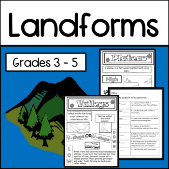 Geography: A Unit on Landforms (Test Included)